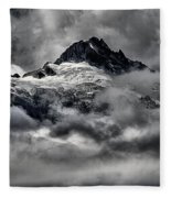 Storms Over Glaciers And Rugged Peaks Fleece Blanket