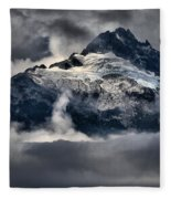 Storms Over Jagged Peaks Fleece Blanket