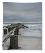 Stormy Beach Forcast Fleece Blanket