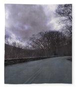 Stormy Blue Ridge Parkway Fleece Blanket