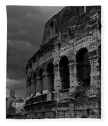 Stormy Colosseum Fleece Blanket