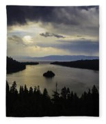 Stormy Emerald Bay Fleece Blanket