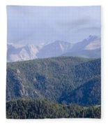 Stormy Pikes Peak Fleece Blanket