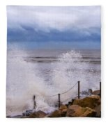 Stormy Seafront - Impressions Fleece Blanket
