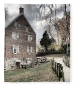 Stormy Skies Over The 1823 Grist Mill Fleece Blanket