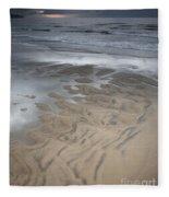 Stormy Skies Over The North Sea Fleece Blanket