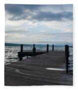 Stormy Sky Over Seneca Lake Fleece Blanket