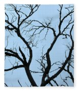 Stormy Trees Fleece Blanket