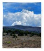 Stormy Wyoming Fall Fleece Blanket