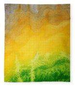 Stormy Mesa Original Painting Fleece Blanket