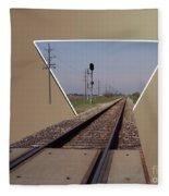 Straight As A Rail Fleece Blanket