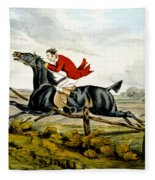 Straight Through The Fence From Qualified Horses And Unqualified Riders Fleece Blanket