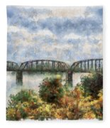 Strang Bridge Fleece Blanket