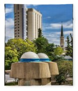 Strange Buenos Aires Architecture Tilt Shift Fleece Blanket