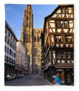 Strasbourg Cathedral Fleece Blanket
