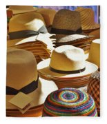 Straw Hats Fleece Blanket