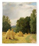 Straw Stacks Fleece Blanket