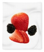 Strawberry Blackberry Fleece Blanket