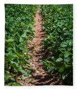 Strawberry Farm Field Fleece Blanket