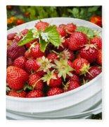 Strawberry Harvest Fleece Blanket