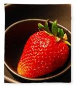 Strawberry In Nested Bowls Fleece Blanket