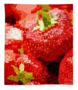 Strawberry Mosaic Fleece Blanket