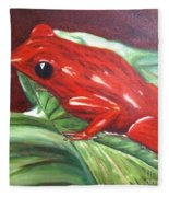 Strawberry Poison Dart Frog Fleece Blanket