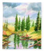 Strawberry Reservoir 2 Fleece Blanket