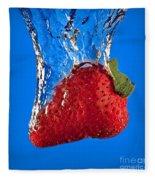 Strawberry Slam Dunk Fleece Blanket