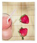 Strawberry Smoothie Fleece Blanket