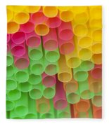Straws Fleece Blanket