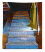 Stray Breeze On The Stairs Fleece Blanket
