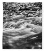 Stream Fall Colors Great Smoky Mountains Painted Bw  Fleece Blanket