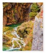 Stream In The Mountains Fleece Blanket