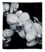 Stream Of Orchids Fleece Blanket