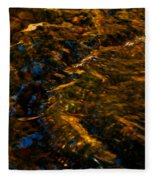 Stream Of Reflection Fleece Blanket