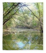 Stream Of Water Fleece Blanket