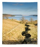 Stream To Kielder Water Fleece Blanket