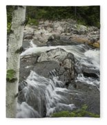 Stream With Waterfall In Vermont Fleece Blanket