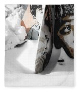 Street Art In The Snow Fleece Blanket