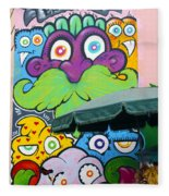 Street Art Lima Peru 2 Fleece Blanket