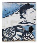 Street Art Santiago Chile Fleece Blanket