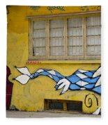 Street Art Valparaiso Chile 12 Fleece Blanket