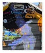 Street Art Valparaiso Chile 5 Fleece Blanket