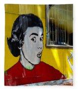 Street Art Valparaiso Chile 7 Fleece Blanket