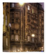 Street Corner Budapest Fleece Blanket