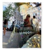 Street Fashion Fleece Blanket