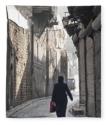 Street In Aleppo Syria Fleece Blanket
