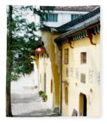 Street In Anhui Province China Fleece Blanket