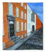 Street In Dublin Fleece Blanket